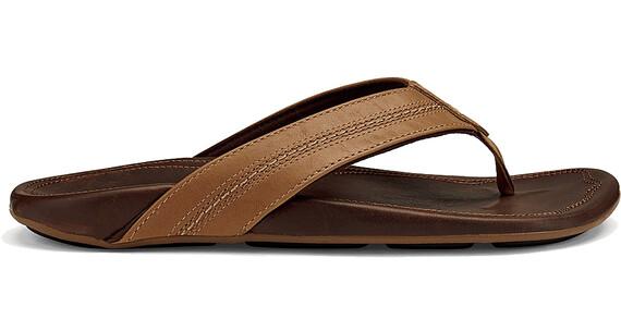 OluKai M's Maka Sandals Tan/Dk Java